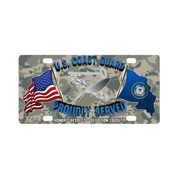 USCG CULINARY SPECIALIST CS Logo- Classic License Plate