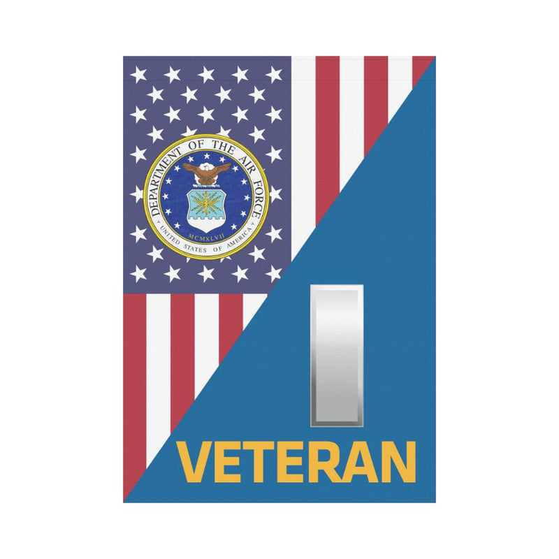 US Air Force O-2 First Lieutenant 1st Veteran House Flag 28 inches x 40 inches Twin-Side Printing