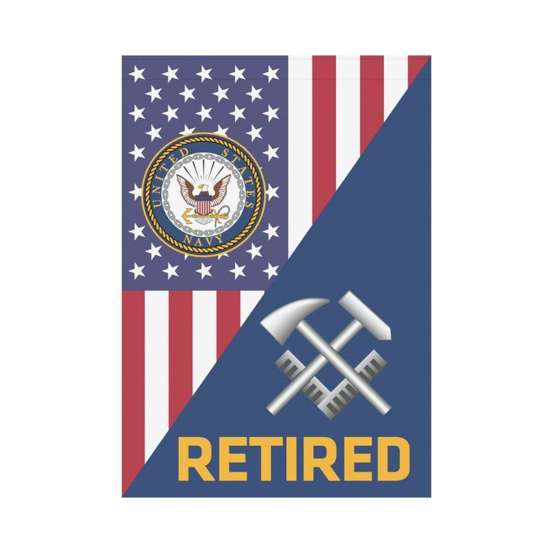 US Navy Hull Maintenance Technician Navy HT Retired House Flag 28 inches x 40 inches Twin-Side Printing