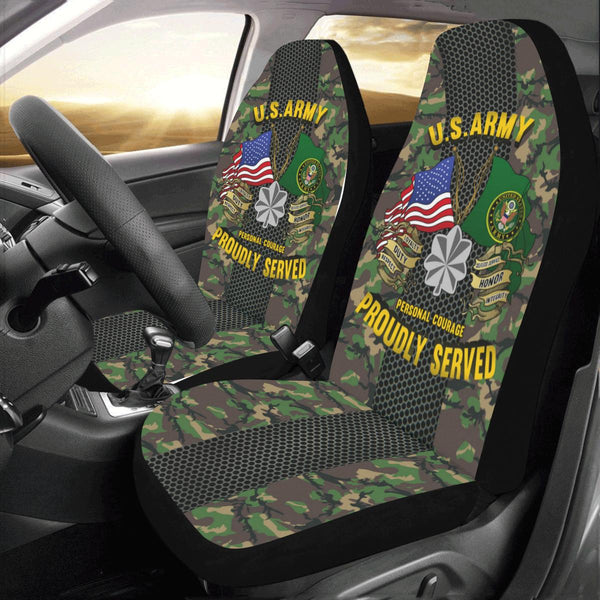 US Army O-5 Lieutenant Colonel O5 LTC Field Officer Car Seat Covers (Set of 2)