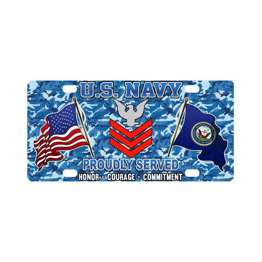 US Navy E-6 Petty Officer First Class E6 PO1 Colla Classic License Plate
