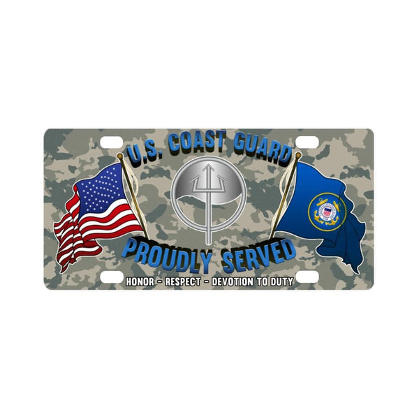 USCG MARINE SCIENCE TECHNICIAN MST Logo- Classic License Plate