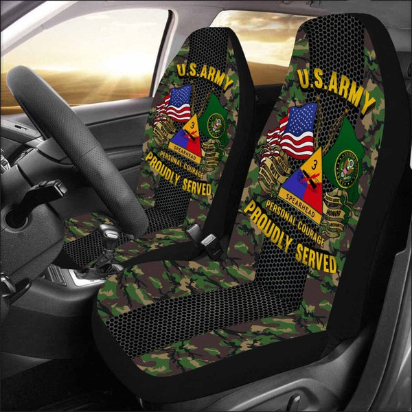 US Army 3rd Armored Division Car Seat Covers (Set of 2)