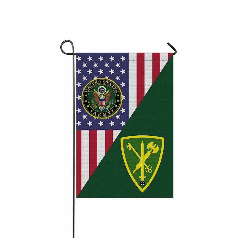 US ARMY 42ND MILITARY POLICE BRIGADE Garden Flag/Yard Flag 12 inches x 18 inches Twin-Side Printing