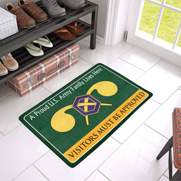 U.S Army Chemical Corps Family Doormat - Visitors must be approved ( 23.6 inches x 15.7 inches)
