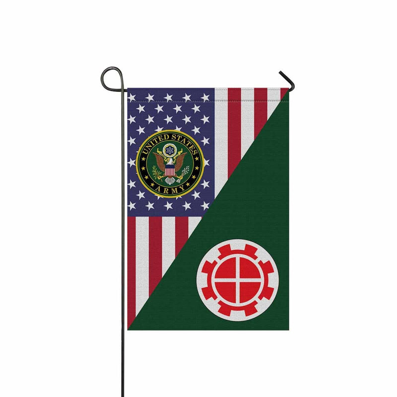 US ARMY 35TH ENGINEER BRIGADE Garden Flag/Yard Flag 12 inches x 18 inches Twin-Side Printing