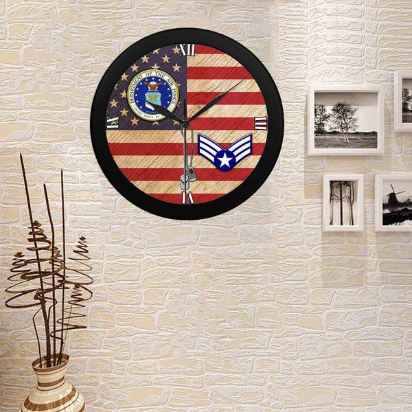 US Air Force E-4 Buck Sergeant Wall Clock