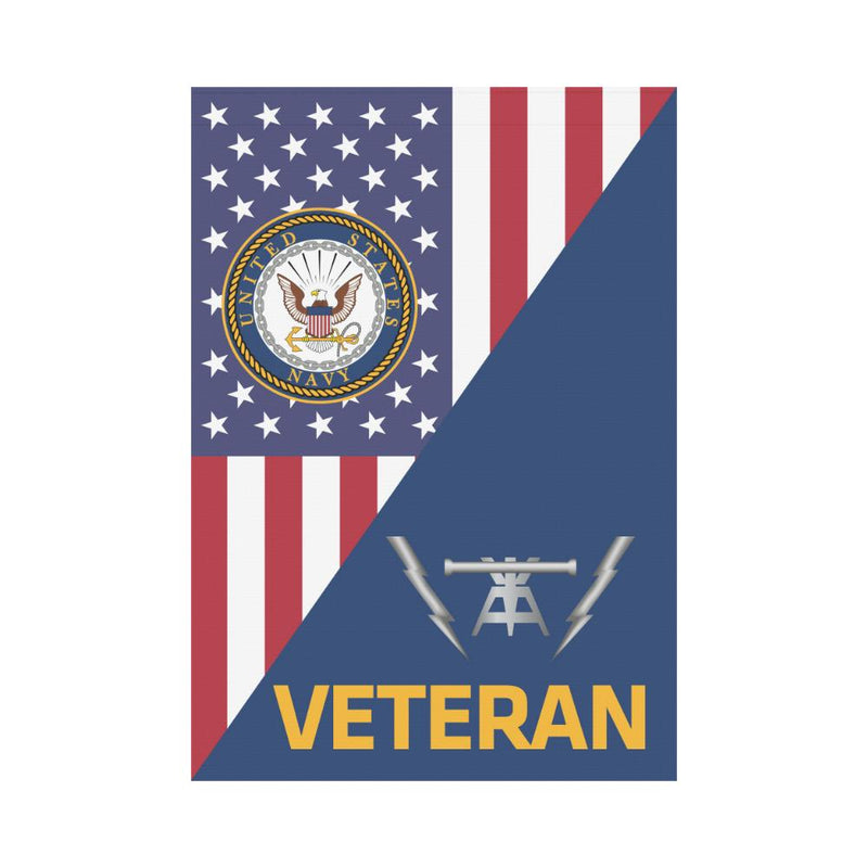 US Navy Fire Controlman Navy FC Veteran House Flag 28 inches x 40 inches Twin-Side Printing