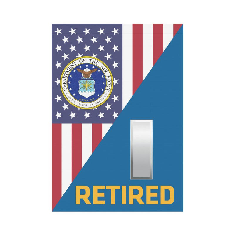 US Air Force O-2 First Lieutenant 1st L O2 Retired House Flag 28 inches x 40 inches Twin-Side Printing