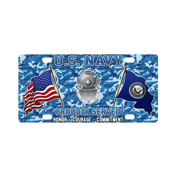 U.S Navy Diver Navy ND - Classic License Plate