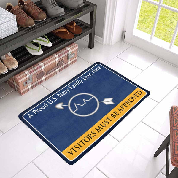 U.S Navy Operations specialist Navy OS Family Doormat - Visitors must be approved (23,6 inches x 15,7 inches)
