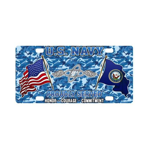 U.S Navy Aviation Electronics Technician Navy AT - Classic License Plate