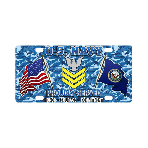 US Navy E-6 Petty Officer First Class E6 PO1 Gold Classic License Plate