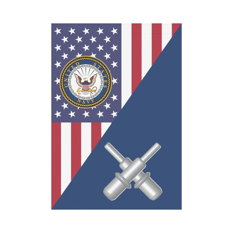 US  Navy Gunner's mate Navy GM House Flag 28 inches x 40 inches Twin-Side Printing