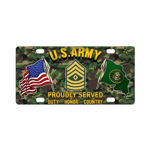 US Army E-8 First Sergeant E8 1SG Noncommissioned Classic License Plate