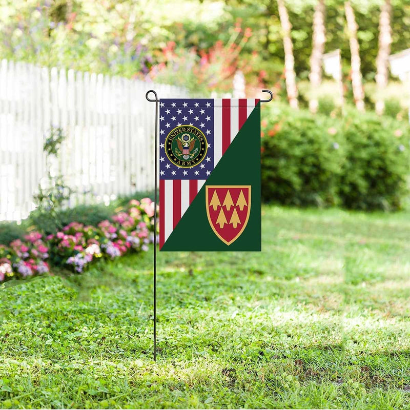 US ARMY 32ND AIR AND MISSILE DEFENSE COMMAND Garden Flag/Yard Flag 12 inches x 18 inches Twin-Side Printing