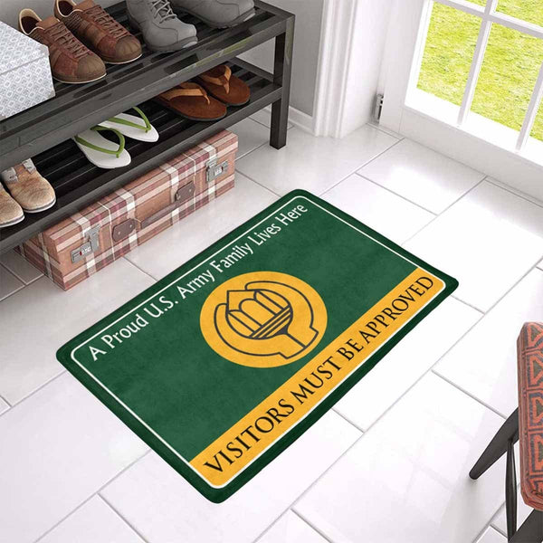 U.S Army Chaplain Assistant Family Doormat - Visitors must be approved (23.6 inches x 15.7 inches)