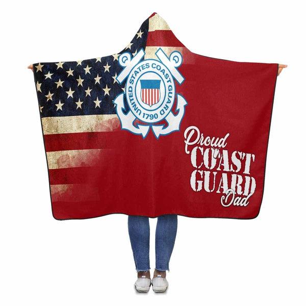 Proud Coast Guard Family Member Hooded Blanket