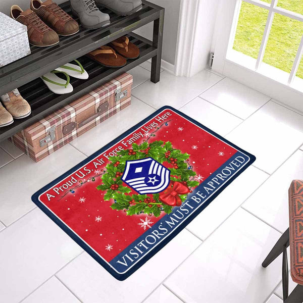 US Air Force E-7 First sergeant E-7 Rank - Visitors must be approved - Christmas Doormat
