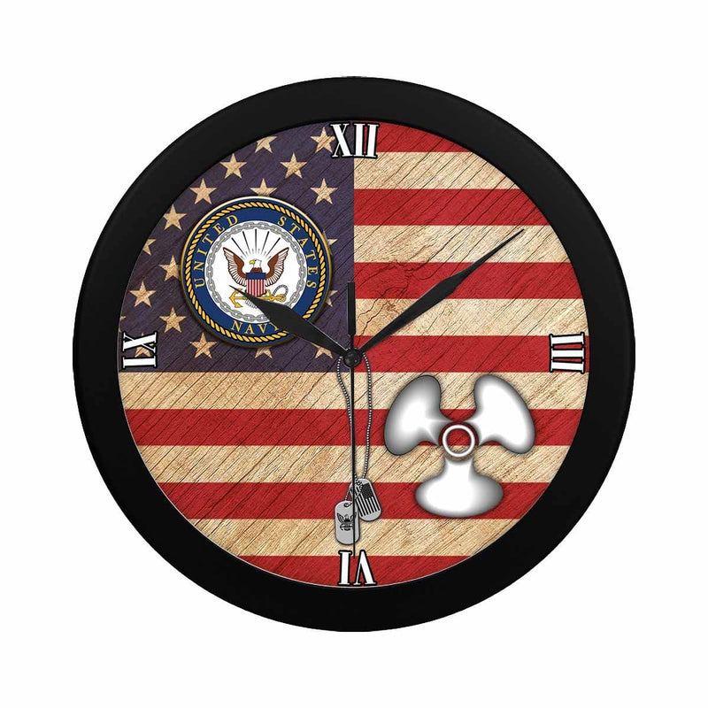 US Navy Machinist's Mate Navy MM Wall Clock