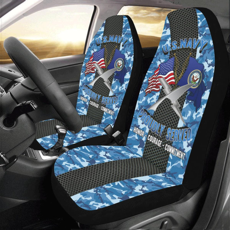 U.S Navy Cryptologic technician Navy CT Car Seat Covers (Set of 2)