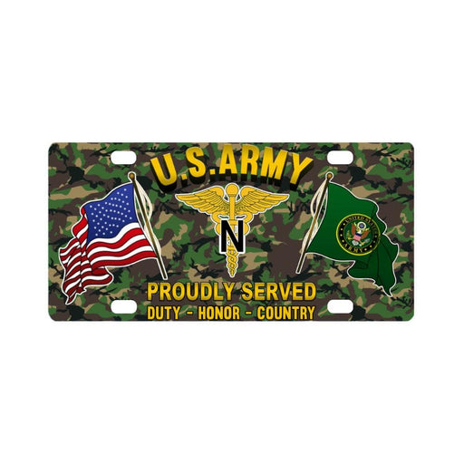 US Army Nurse Corps Proudly Plate Frame Classic License Plate
