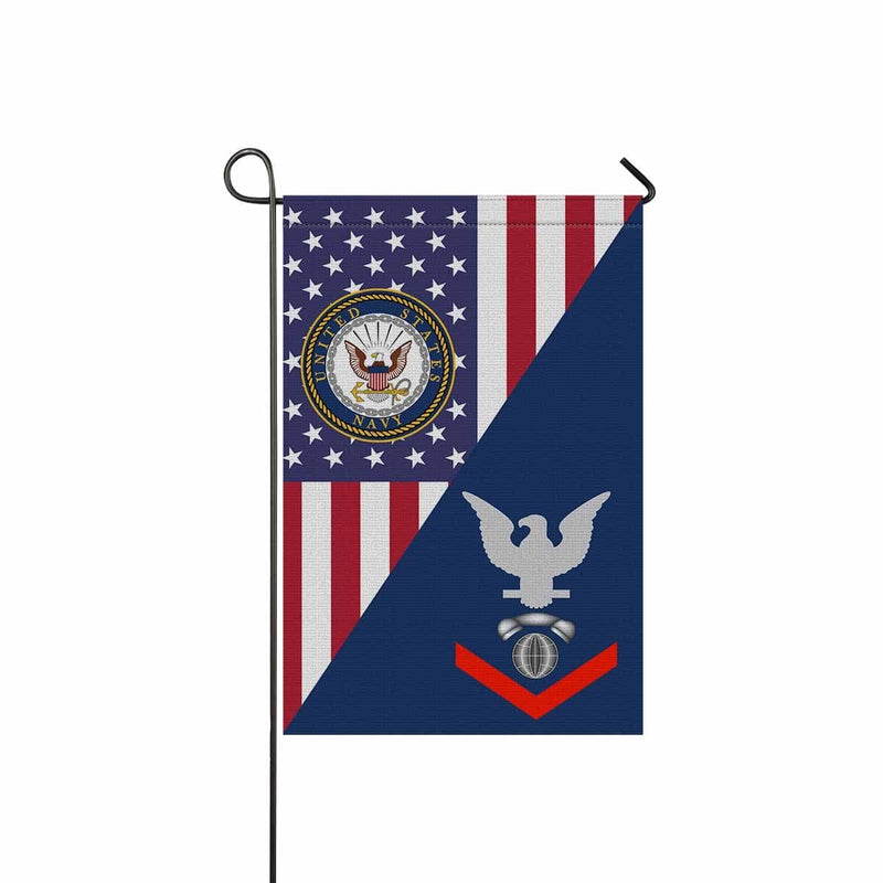 Navy Interior Communications Electrician Navy IC E-4  Garden Flag/Yard Flag 12 inches x 18 inches Twin-Side Printing