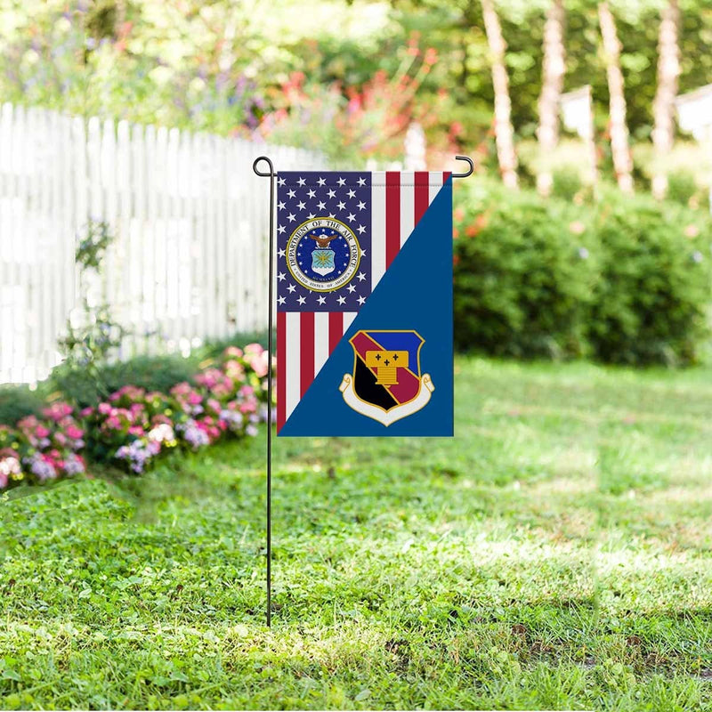 US Air Force 837th Air Division Garden Flag/Yard Flag 12 inches x 18 inches Twin-Side Printing
