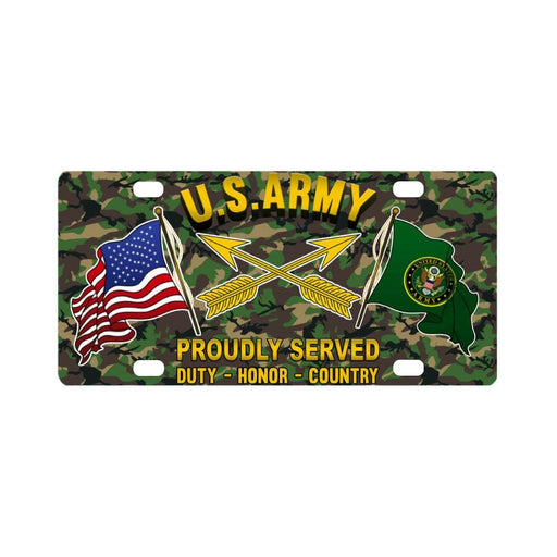 U.S. Army Special Forces (USASFC) Proudly Plate Fra Classic License Plate