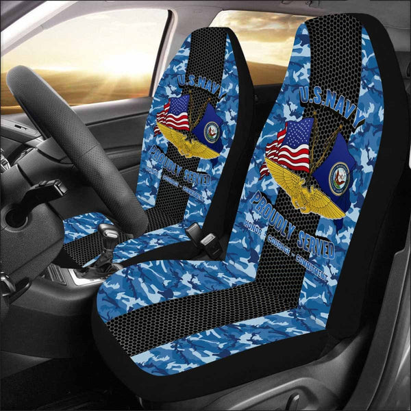 U.S NAVY NAVAL ASTRONAUT FLIGHT OFFICER - Car Seat Covers (Set of 2)