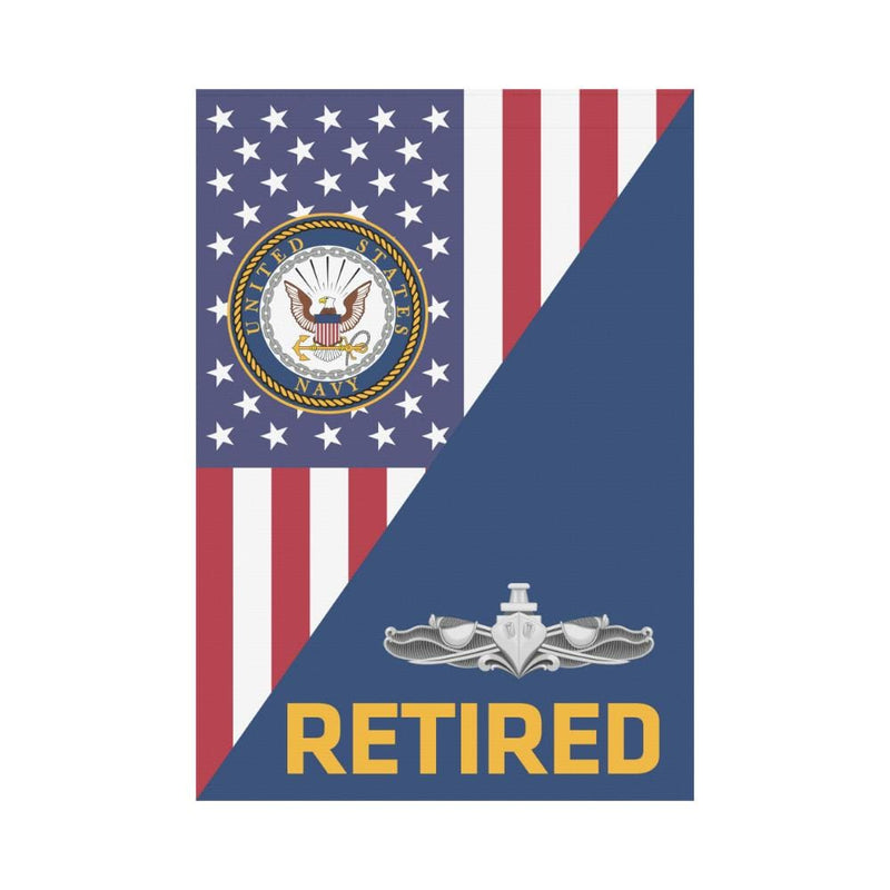 US Navy Surface Warfare Enlisted Badge Retired House Flag 28 inches x 40 inches Twin-Side Printing