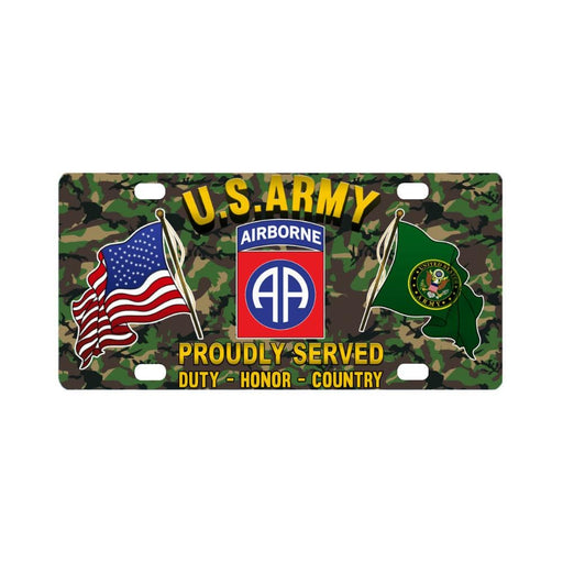 US ARMY 82ND AIRBORNE DIVISION - Classic License Plate