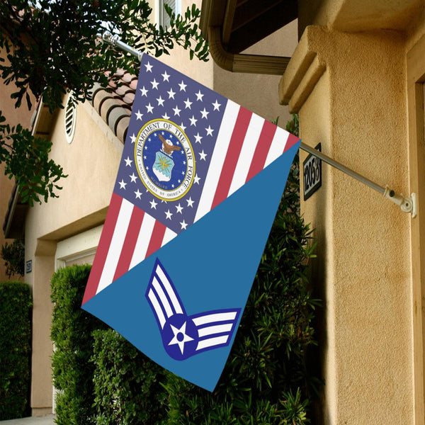 US Air Force E-4 Senior Airman SrA House Flag 28 inches x 40 inches Twin-Side Printing