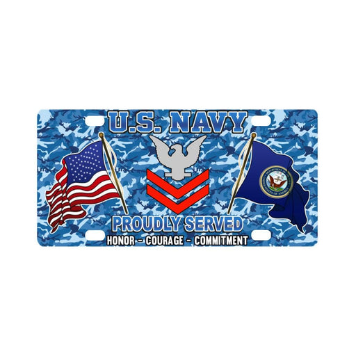 US Navy E-5 Petty Officer Second Class E5 PO2 Coll Classic License Plate