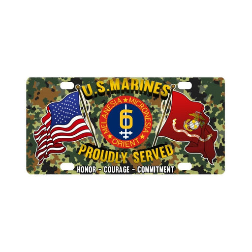 US Marine Corps 6th Division Classic License Plate Classic License Plate