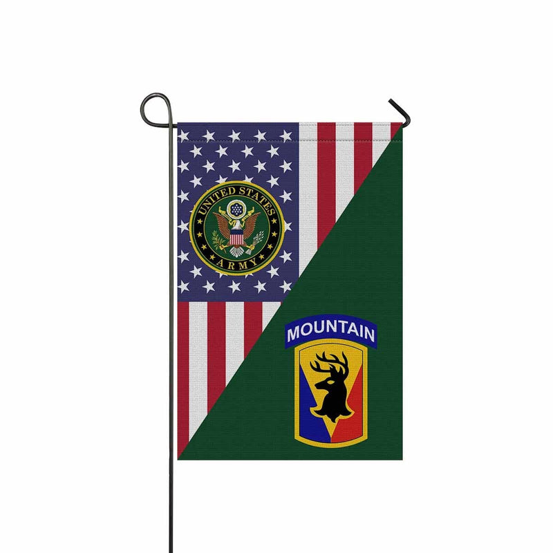 US ARMY 86TH INFANTRY BRIGADE COMBAT TEAM Garden Flag/Yard Flag 12 inches x 18 inches Twin-Side Printing