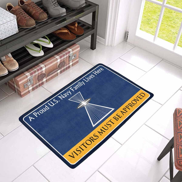 U.S Navy Aviation Photographer's Mate PH Family Doormat - Visitors must be approved (23,6 inches x 15,7 inches)
