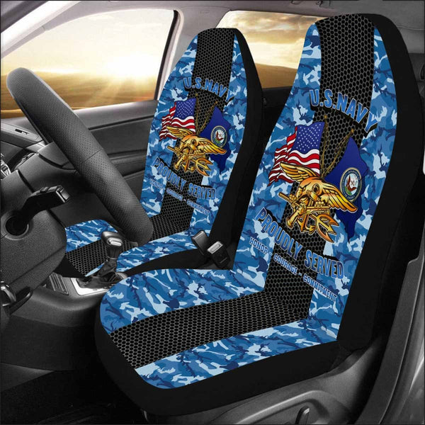 U.S NAVY SPECIAL WARFARE (SEAL) Car Seat Covers (Set of 2)