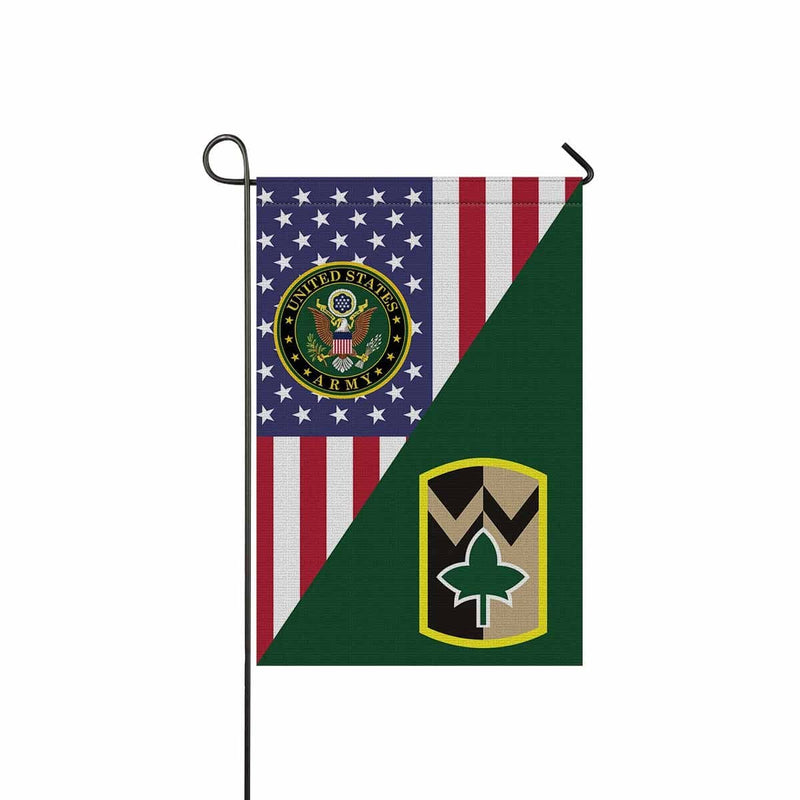 US ARMY 4TH SUSTAINMENT BRIGADE Garden Flag/Yard Flag 12 inches x 18 inches Twin-Side Printing