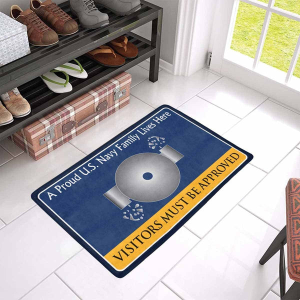 U.S Navy Boiler technician Navy BT Family Doormat - Visitors must be approved (23,6 inches x 15,7 inches)