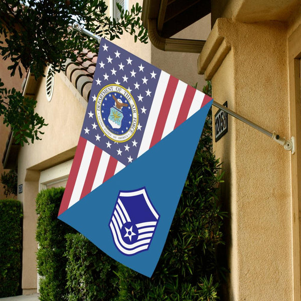US Air Force E-7 Master Sergeant MSgt House Flag 28 inches x 40 inches Twin-Side Printing