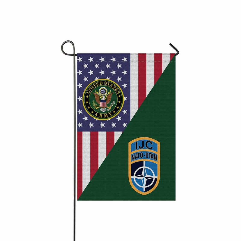 US ARMY CSIB NATO ISAF JOINT COMMAND IN AFGHANISTAN Garden Flag/Yard Flag 12 inches x 18 inches Twin-Side Printing