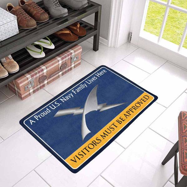 U.S Navy Cryptologic technician Navy CT Family Doormat - Visitors must be approved (23,6 inches x 15,7 inches)