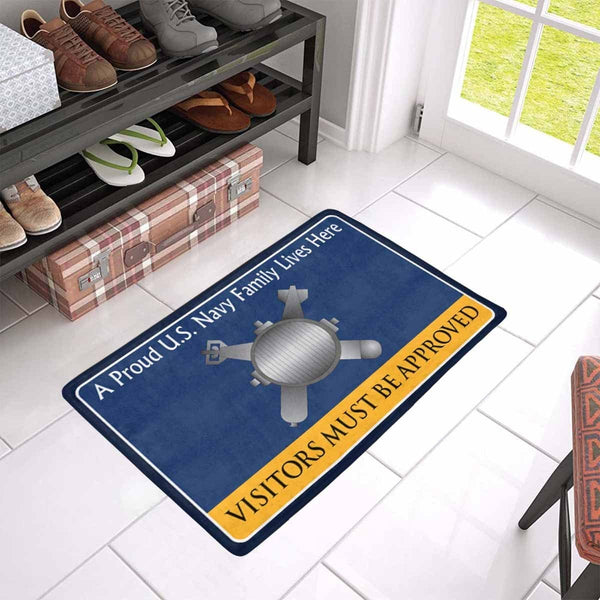 Navy Explosive Ordnance Disposal Navy EOD Family Doormat - Visitors must be approved (23,6 inches x 15,7 inches)