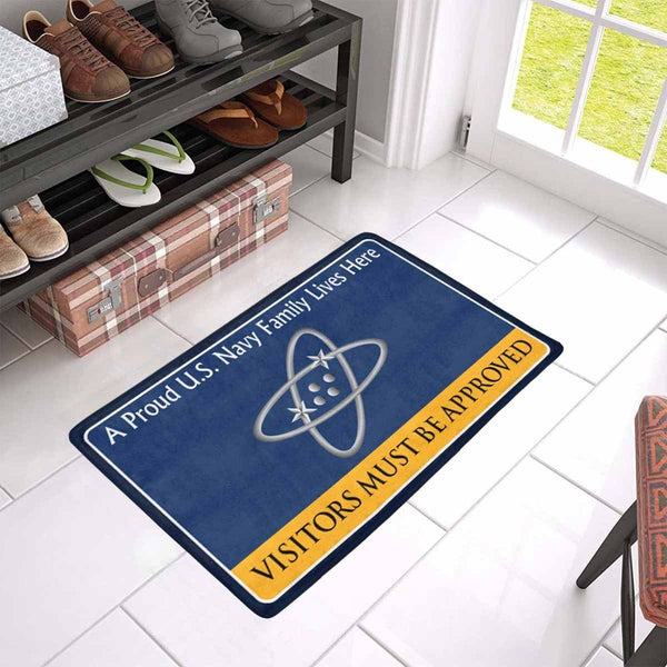 U.S Navy Electronics technician Navy ET Family Doormat - Visitors must be approved (23,6 inches x 15,7 inches)