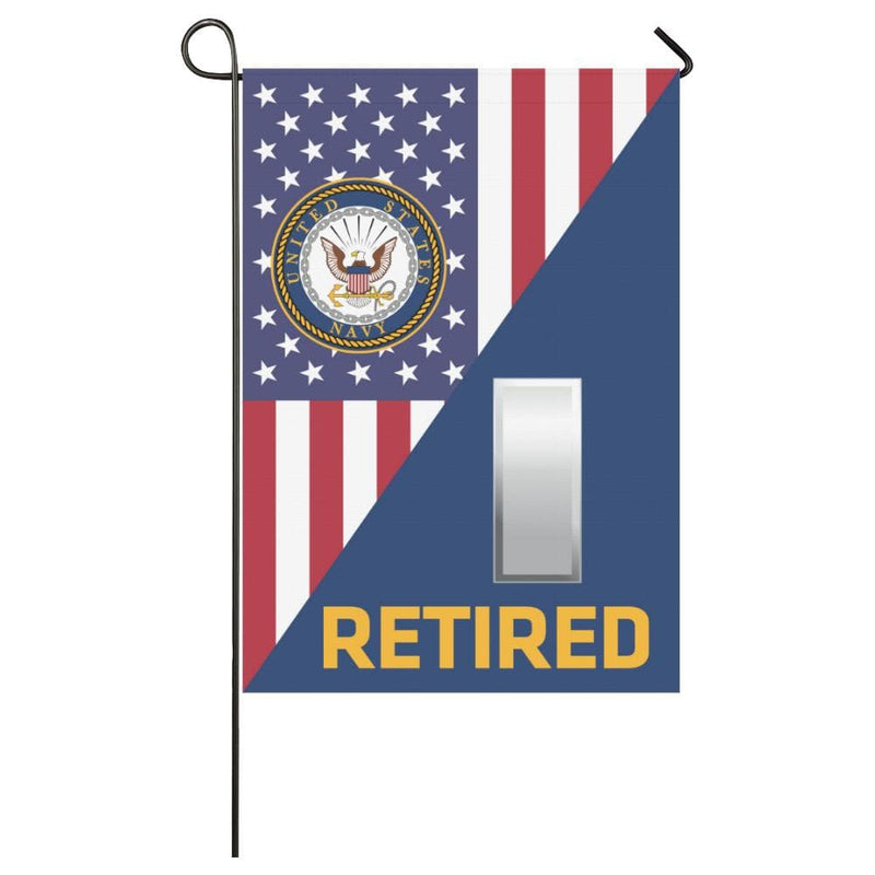 US Navy O-2 Lieutenant Junior Grade O2 LTJG Retired House Flag 28 inches x 40 inches Twin-Side Printing