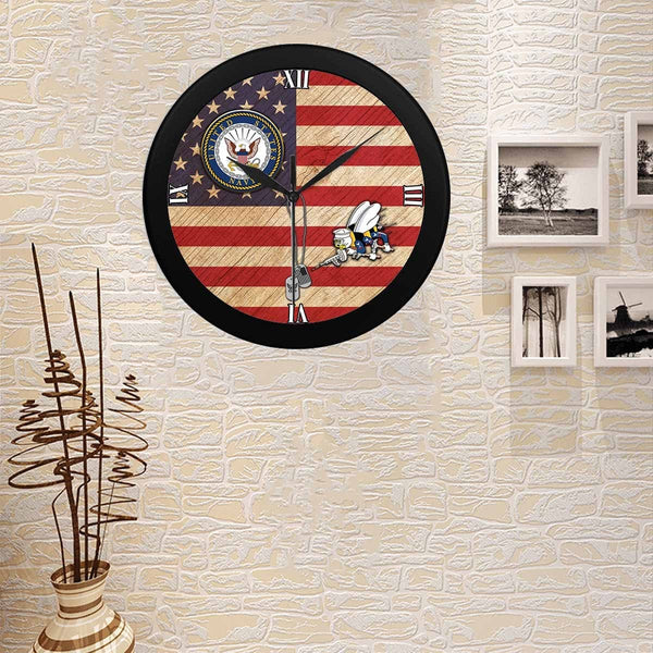 US Navy Seabees Wall Clock