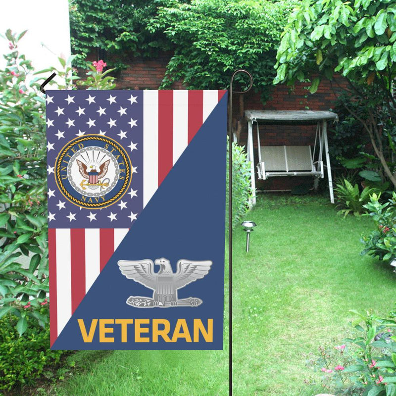 US Navy O-6 Captain O6 CAPT Senior Officer Veteran Garden Flag/Yard Flag 12 inches x 18 inches Twin-Side Printing