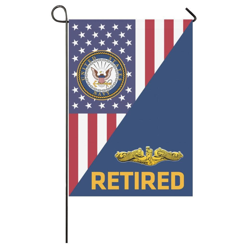 US Navy Submarine Officer Retired House Flag 28 inches x 40 inches Twin-Side Printing