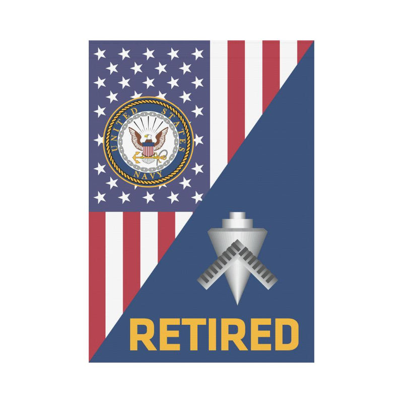 US Navy Builder Navy BU Retired House Flag 28 inches x 40 inches Twin-Side Printing